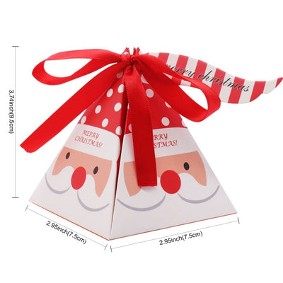 DIY Decorative Pyramid Christmas Gift-Candy Surprise Box - Online Party Supplies