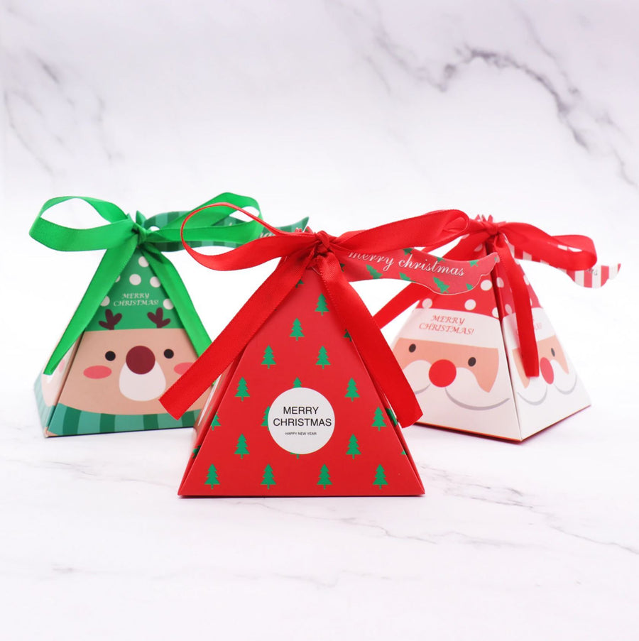 DIY Decorative Pyramid Christmas Gift-Candy Surprise Box