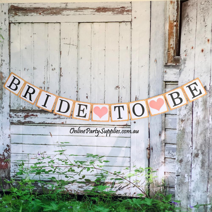 DIY Paperboard Rustic Bride To Be Banner
