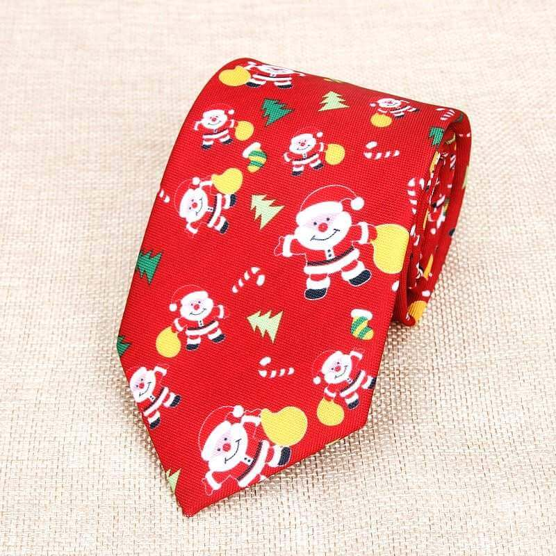 Deluxe Red Santa Christmas Tie for Men - Xmas Novelty and Costume Accessories