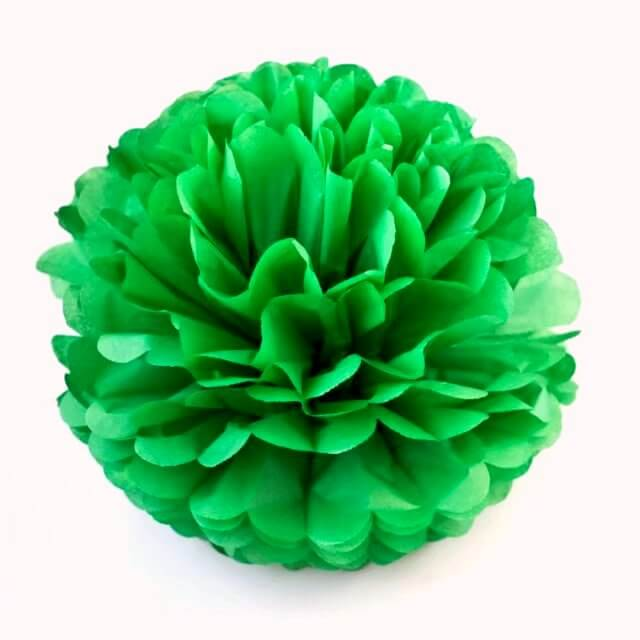 forest green Tissue Paper Pom Poms Pompoms Balls Flowers Party Hanging Decorations