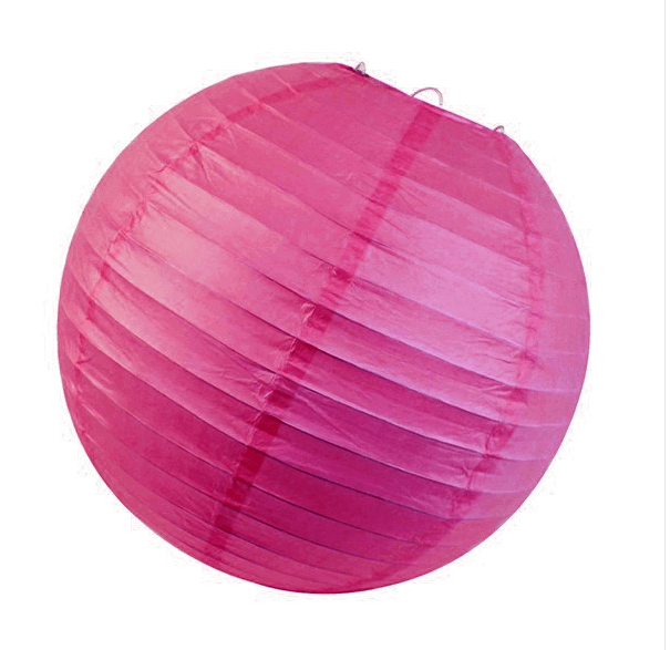 Fuchsia Round Chinese Paper Lantern - 4 Sizes