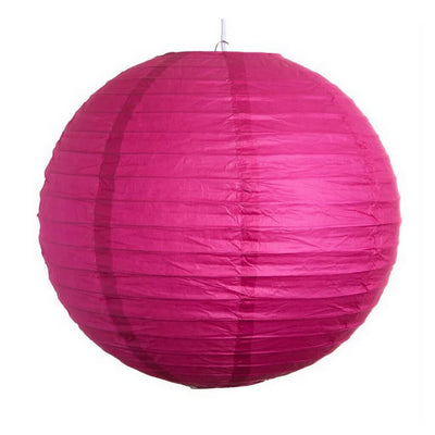 Online Party Supplies Australia 6-inch fuchsia Decorative Paper Lanterns Balls
