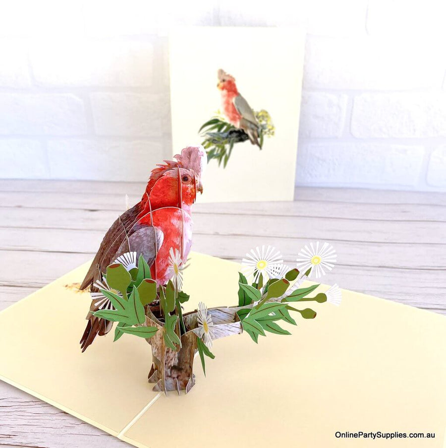 Handmade Australian Galah Cockatoo Bird Card
