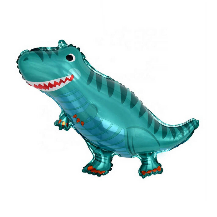 Online Party Supplies Jumbo Jurassic World Blue T-Rex Dinosaur Shaped Helium Foil Balloon