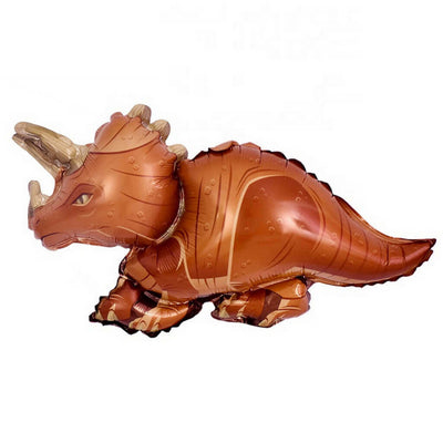 Online Party Supplies Jumbo Jurassic World Brown Triceratops Dinosaur Shaped Helium Foil Balloon