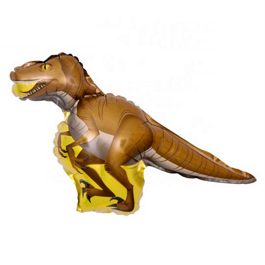 46 Inch Online Party Supplies Jumbo Jurassic World Brown Velociraptor Dinosaur Shaped Helium Foil Balloon