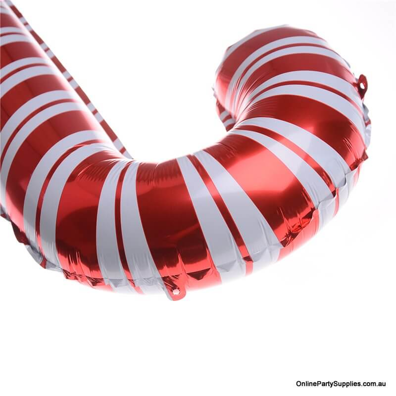 Giant Christmas Candy Cane Shaped Foil Balloon - Candyland Buffet Party Theme / Christmas Tree Hanging Decorations