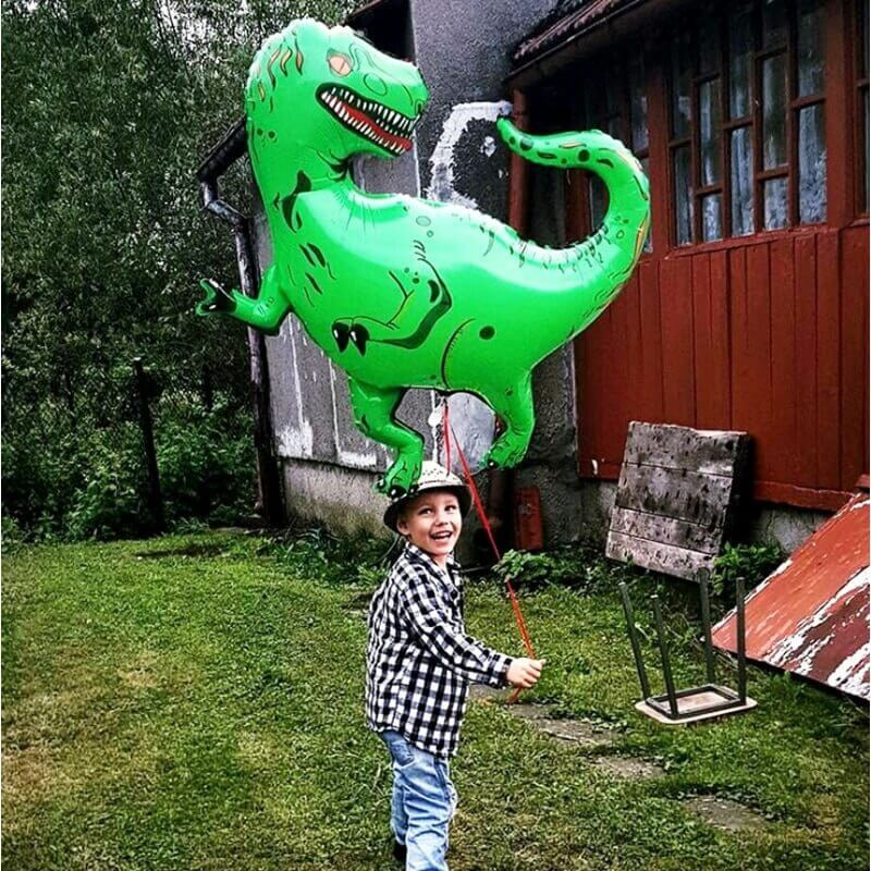 33 Inch Online Party Supplies Jumbo Jurassic World T-Rex Dinosaur Shaped Helium Foil Balloon