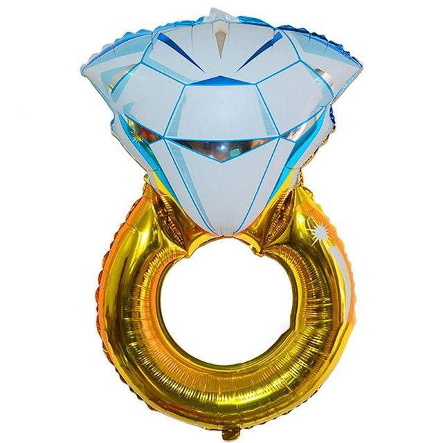 "32"" Jumbo Engagement Diamond Ring Shaped Foil Balloon"