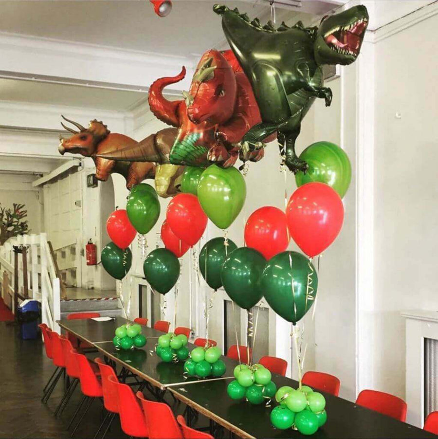 Online Party Supplies Jumbo Jurassic World Red T-Rex Dinosaur Shaped Helium Foil Balloon