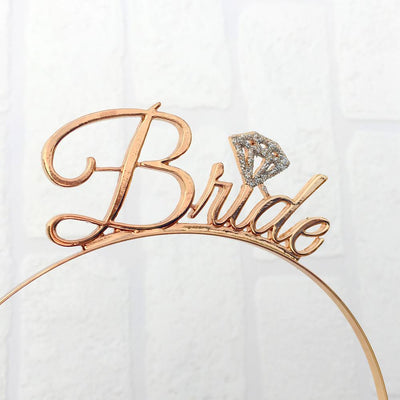 Gold Bachelorette Bride Headband - Online Party Supplies