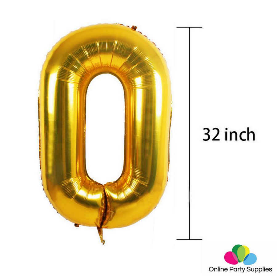 Gold Birthday Number 1 Foil Balloon Bouquet (Pack of 6pcs)