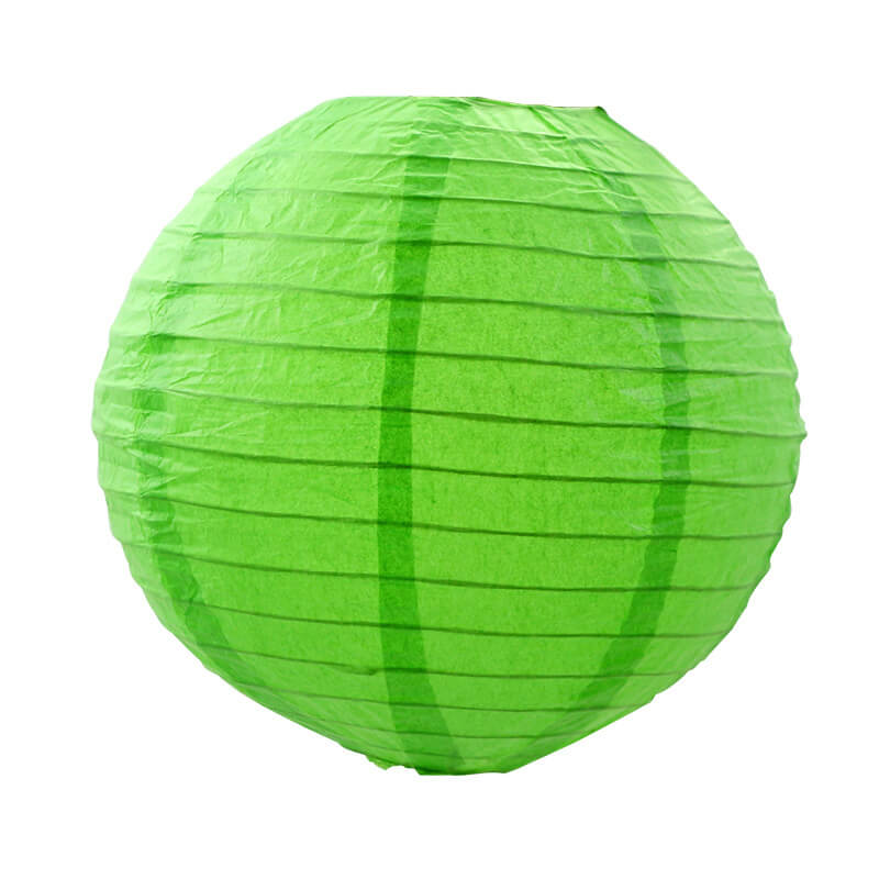 Green Round Chinese Paper Lantern - 4 Sizes