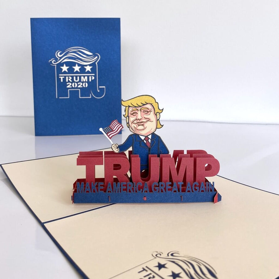 Online Party Supplies Australia Handmade 3D Donald Trump Make America Great Again Pop Up Birthday Greeting Card