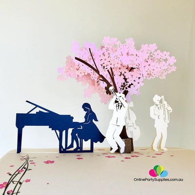 Handmade Symphony Orchestra Music Band 3D Pop Up Card - Online Party Supplies