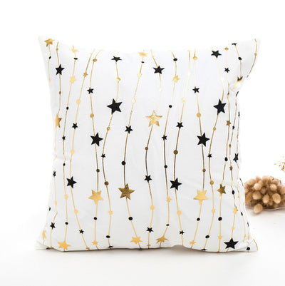 High Quality Gold Coloured Christmas Decorative Cushion Covers - Online Party Supplies