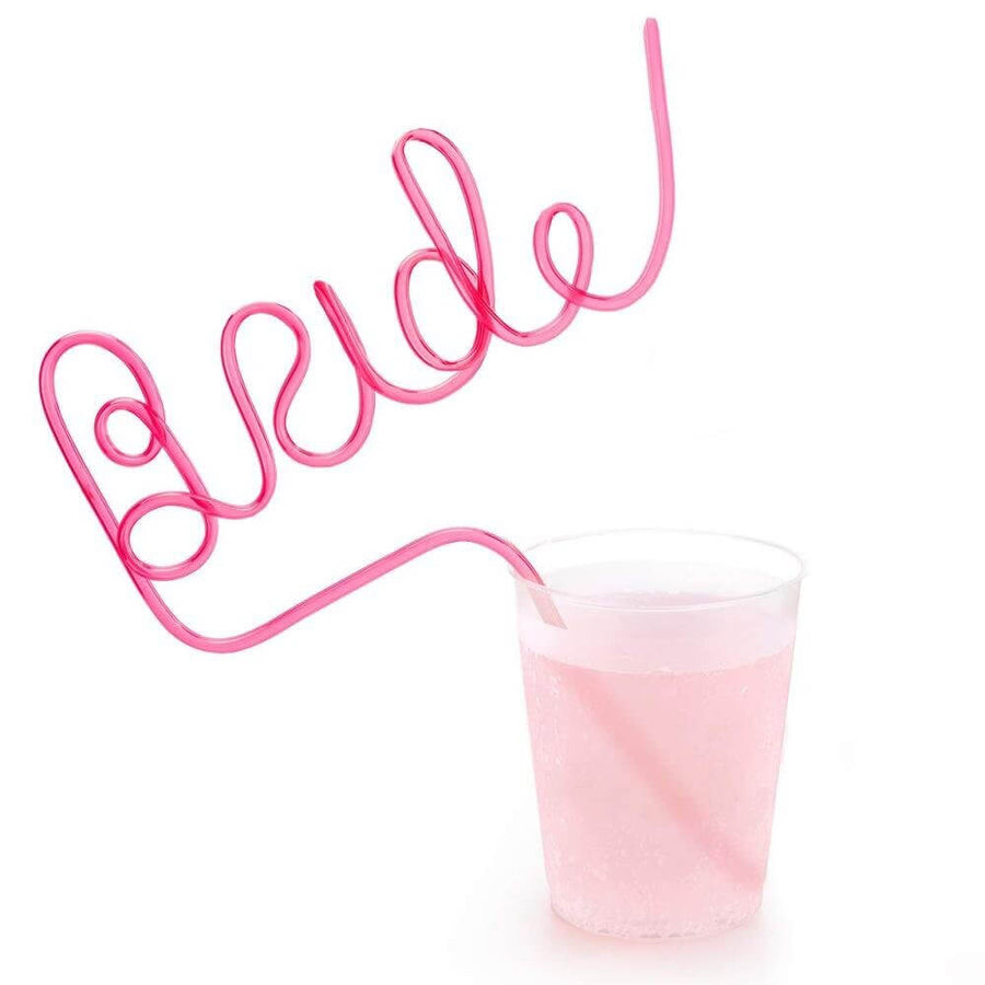 Bachelorette Party Bride Drinking Straw - Hot Pink