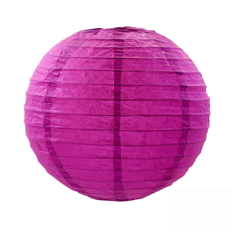 Hot Pink Round Chinese Paper Lantern - 4 Sizes