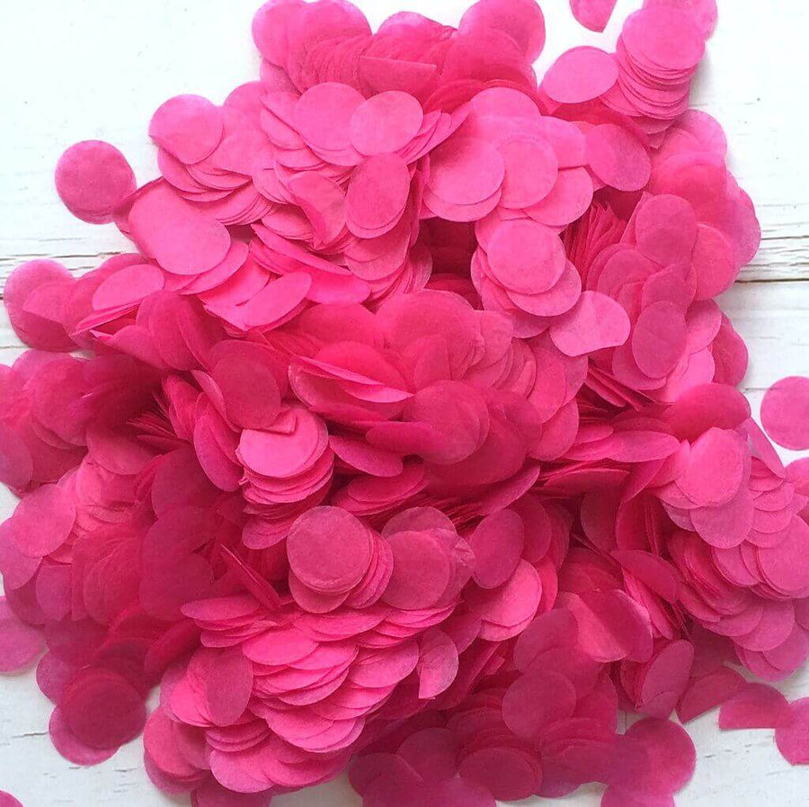 20g Round Circle Tissue Paper Party Confetti - Hot Pink