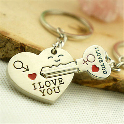 I Love You Heart Lock And Key Rings