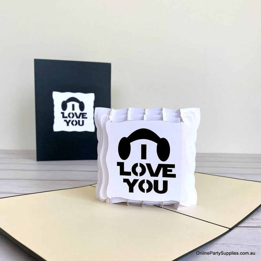 Handmade I Love You Star Wars 3D Pop Up Valentine's Day Card