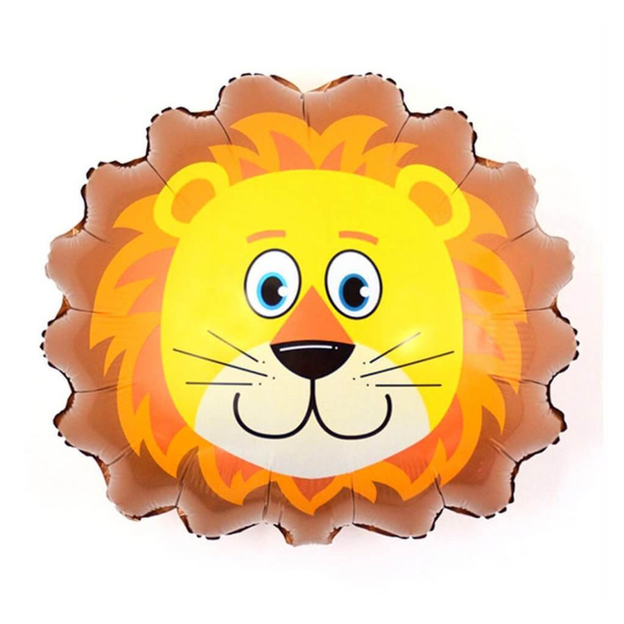Jumbo Lion Head Foil Balloon - Jungle & Safari Animal Themed Party Balloons and Decorations