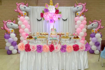 Jumbo Pink Floral Unicorn Foil Balloon - Online Party Supplies