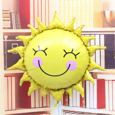 "29"" Online Party Supplies Giant Happy Smiling Sunshine Sun Shaped Foil Balloon"