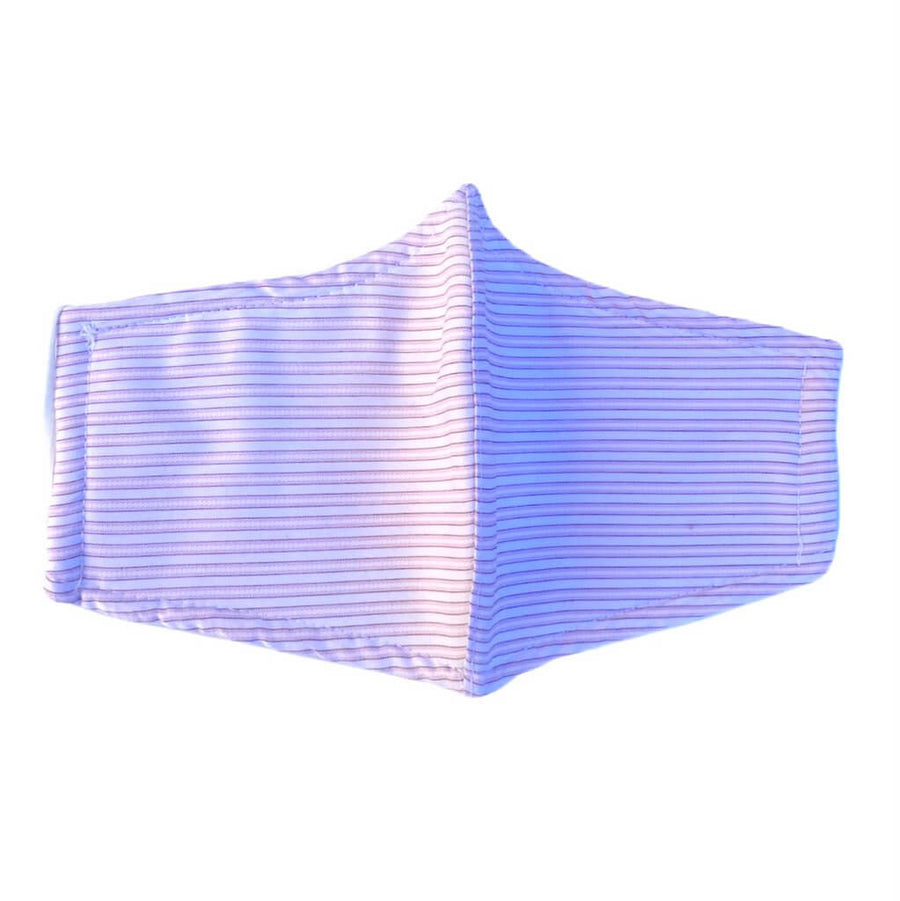 Triple Layer 100% Cotton Face Mask For Women - Pink Stripes