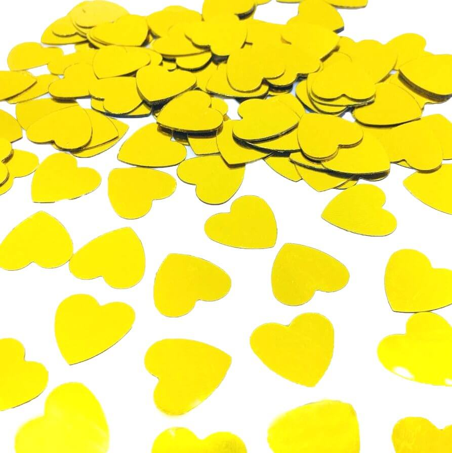 20g Metallic Gold Heart Shaped Foil Confetti Table Scatters