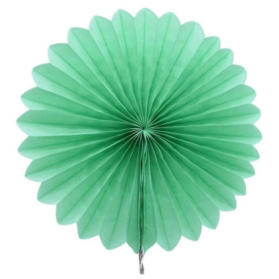 Mint Green Tissue Paper Fan - 6 Sizes