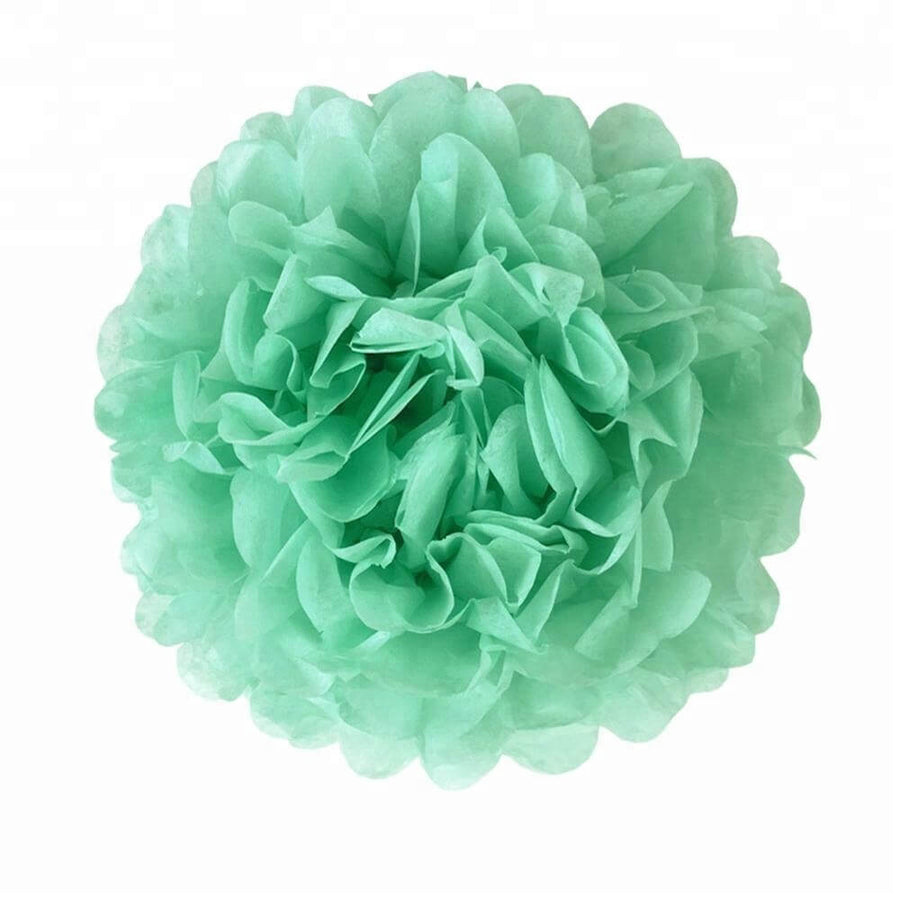 mint green Tissue Paper Pom Poms Pompoms Balls Flowers Party Hanging Decorations