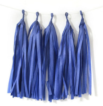 Multicoloured Tissue Paper and Foil Tassel Garlands - Online Party Supplies