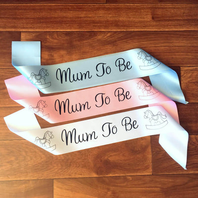 One Size Fits All Pink Online Party Supplies Mum To Be Rocking Horse Baby Shower Satin Sash