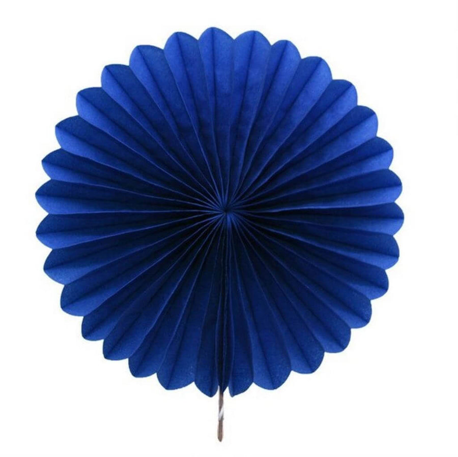 Online Party Supplies AustraliaNavy Blue  round tissue paper fan party decorations