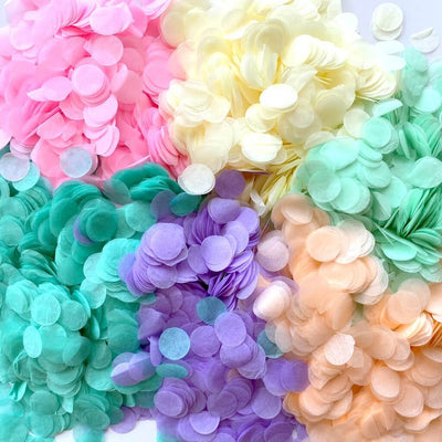20g Round Circle Tissue Paper Party Confetti Table Scatters - Pastel Rainbow