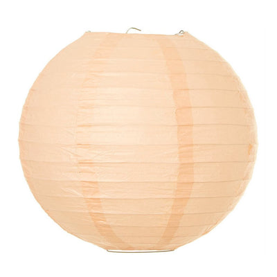 Online Party Supplies Australia 6-inch peach Decorative Paper Lanterns Balls