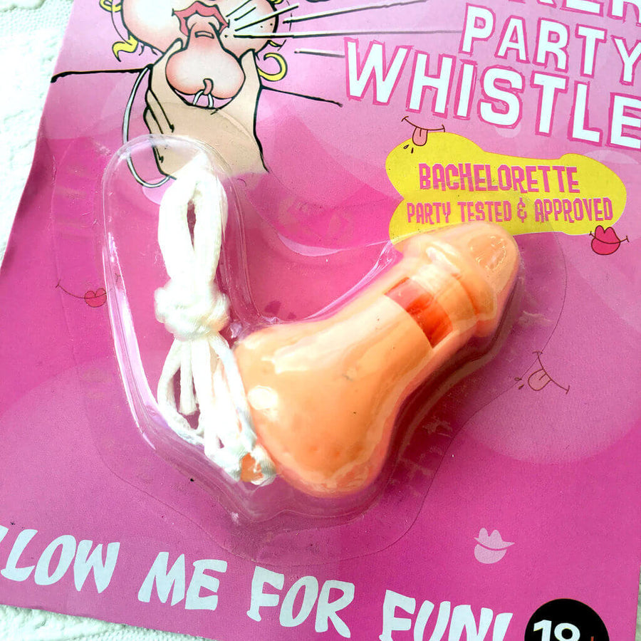 Naughty Hen Party Penis Shaped Whistle