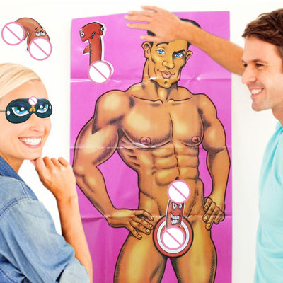 Pin The Junk on the Hunk Bachelorette Party Game - Online Party Supplies