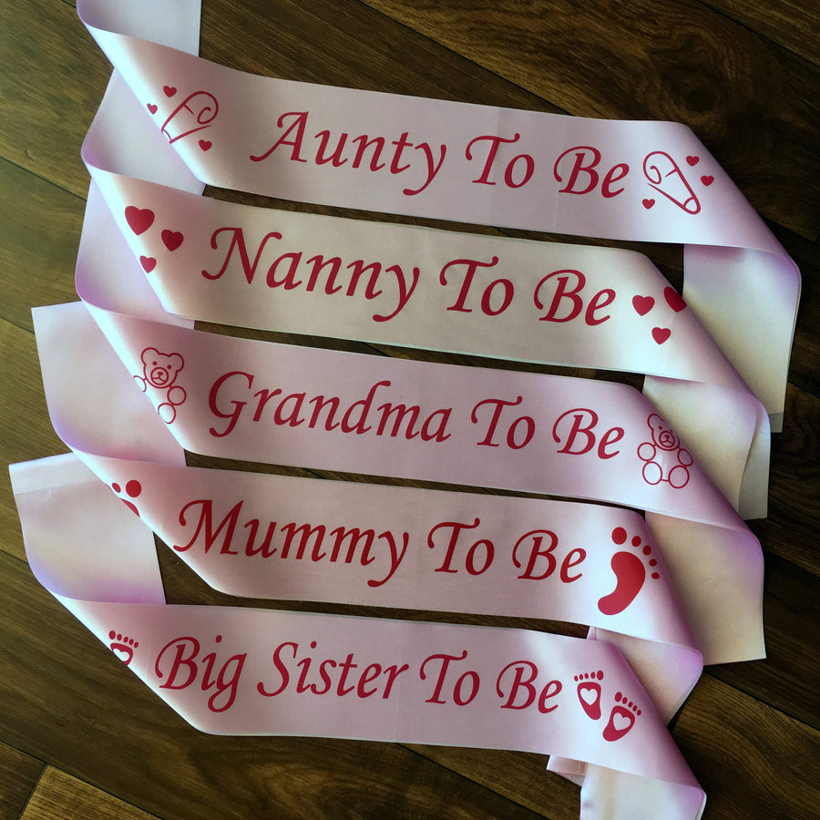 Online Party Supplies Pink Baby Shower Gender Reveal Maternity Satin Sash One size fits most