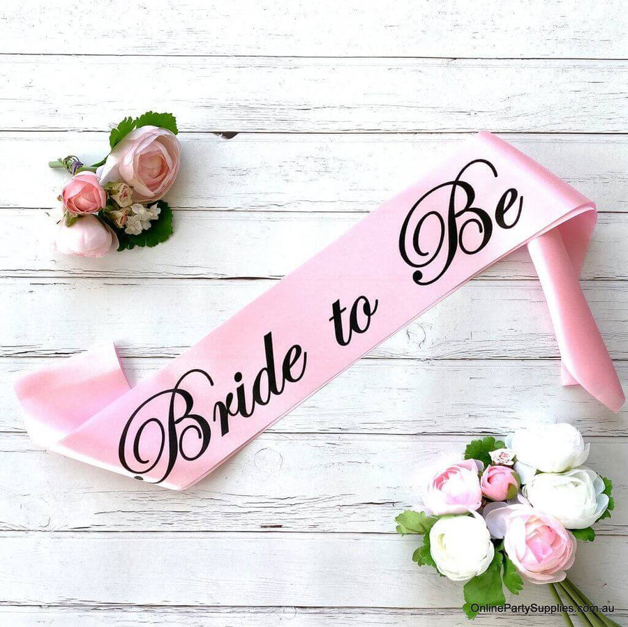 Pink 'Bride to Be' Satin Sash - Bachelorette Party Sash