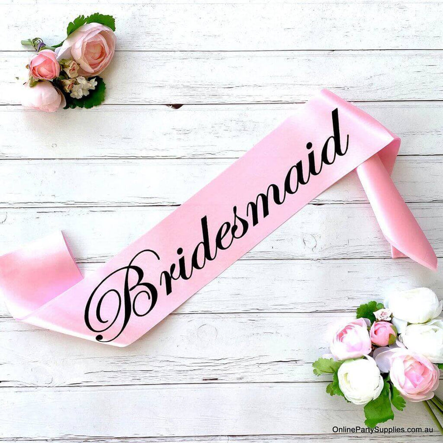 Pink 'Bridesmaid' Satin Sash - Bachelorette Party Sash