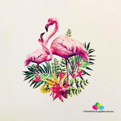 Pink Flamingo Mum & Baby in Garden 3D Pop Up Card - Online Party Supplies