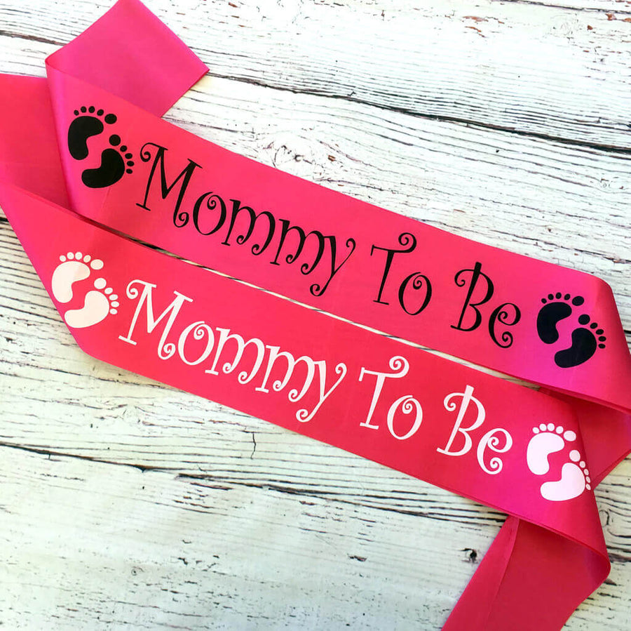 Mummy To Be Baby Shower Satin Sash
