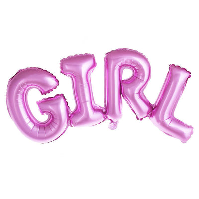 107*38cm Online Party Supplies Pink GIRL Script Baby Shower Gender Reveal Foil Balloon Banner