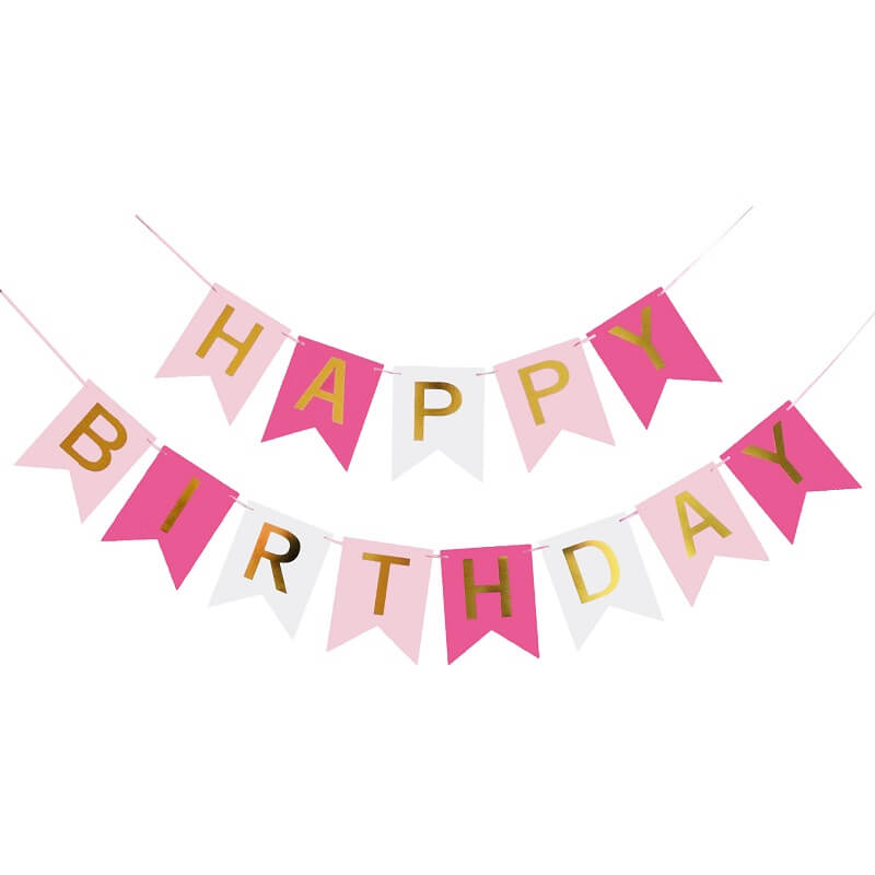 Online Party Supplies Australia Pink Happy Birthday Paper Banner Party Decorations