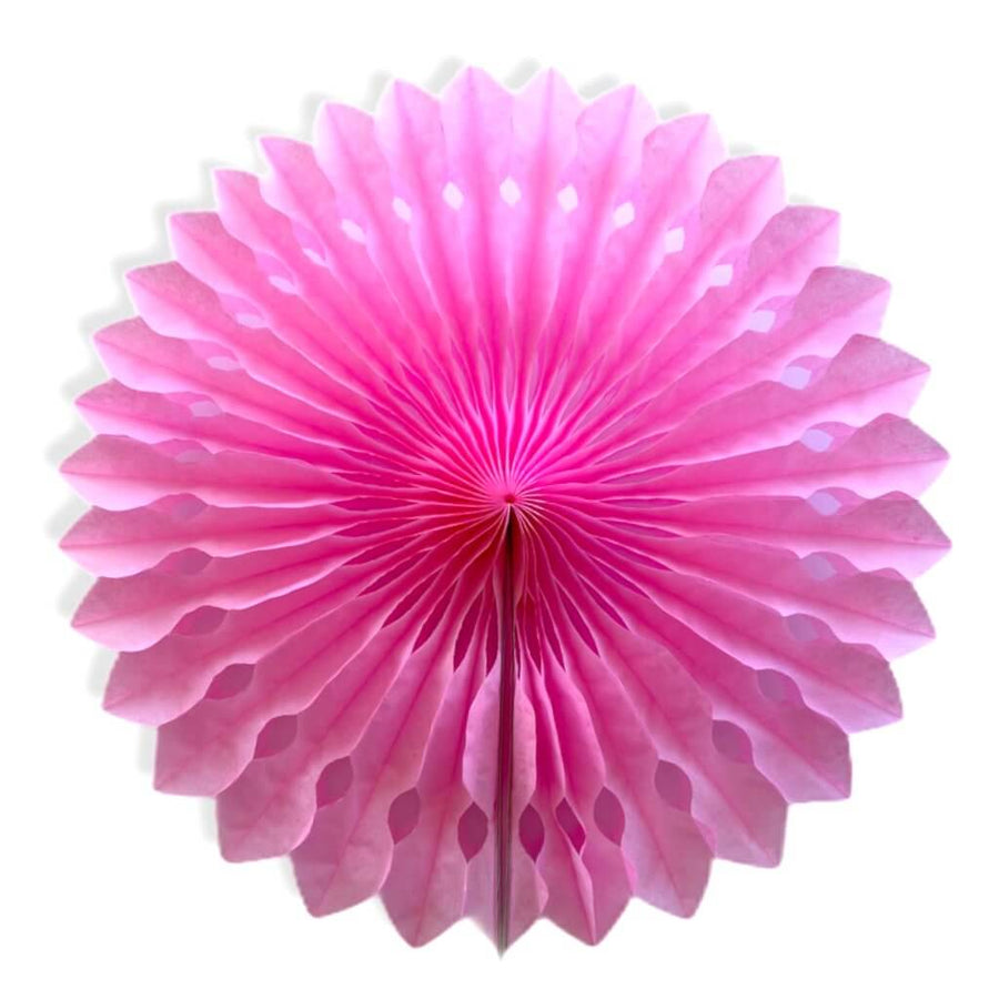 Decorative classic pink Round Tissue Paper Fan