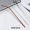 bent rose gold Stainless Steel Straw, reusable, eco-friendly metal straws 210mm x 6mm