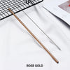 straight rose gold Stainless Steel Straw, reusable, eco-friendly metal straws 210mm x 6mm